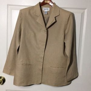 Bagatelle Blazer Jacket 100% Linen Sz.12 khaki